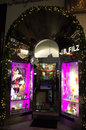Perfumery entrance vienna beautiful decorated fashion store window and in austria Royalty Free Stock Images
