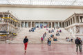 Pergamon museum in berlin tourists at altar Stock Photo