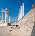 Pergamon ruins in aegean part of turkey Royalty Free Stock Photo