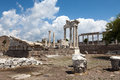 Pergamon temple of trajan at acropolis of Stock Images