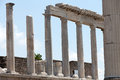 Pergamon temple of trajan at acropolis of Royalty Free Stock Photography