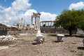 Pergamon temple of trajan at acropolis of Royalty Free Stock Photos