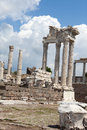 Pergamon temple of trajan at acropolis of Royalty Free Stock Image
