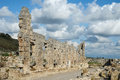 Perge in turkey the ruins of the ancient town of Royalty Free Stock Images