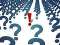 Pergunta e resposta (com trajeto de grampeamento) Fotos de Stock