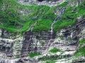 Periodical waterfalls below the top of Santis Royalty Free Stock Photo