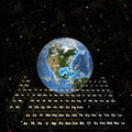 PeriodicTable - tierra en hemisferio Espacio-Occidental Imagen de archivo
