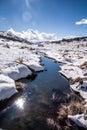 Perisherblauw sneeuwberg in nsw australia Stock Afbeelding