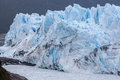 Perito moreno glacier argentina the front of in patagonia the mass of blueish ice flowing into argentino lake Stock Photos