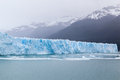 Perito moreno glacier argentina the front of in patagonia the mass of blueish ice flowing into argentino lake and the white snow Stock Photography