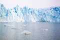 Perito moreno glacier in argentina in winter Stock Photos