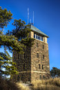 Perkins memorial tower at the top of bear mountain new york state Stock Photo