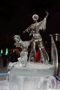 PERM, RUSSIA - JAN 11, 2014: Ice sculpture figure skating Royalty Free Stock Photo