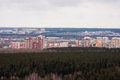 Perm russia the panorama of the city of perm industrial area Royalty Free Stock Photography