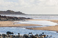 Perranuthnoe beach cornwall england with cudden point in the distance uk europe Royalty Free Stock Photo