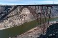Perrine Memorial Bridge, Snake River Canyon, Idaho Royalty Free Stock Photo