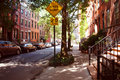 Perry street of Greenwich village district Royalty Free Stock Photo