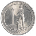 Perrys Victory Ohio commemorative quarter coin Royalty Free Stock Photo