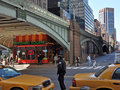 Pershing square and central cafe new york usa april the on a spring morning Royalty Free Stock Image
