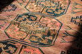 Persian carpet close up beautiful oriental texture Stock Photo