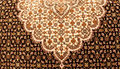 Persian carpet design exhibition showing iranian art tabriz carpet Stock Photo
