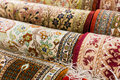 Persian carpets on display in a carpet store Royalty Free Stock Photography