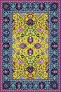 Persian detailed carpet Royalty Free Stock Photo