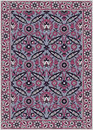 Persian detailed  carpet Royalty Free Stock Image