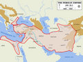 Persian Empire map (detailed)