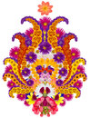 Persian rug element - flower of pomegranate Royalty Free Stock Photo