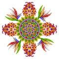 Persian  rug- a Spring Garden Cross Royalty Free Stock Photo