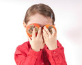 Persimmons Eyes Royalty Free Stock Photography