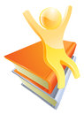 Person on books education concept Royalty Free Stock Photo