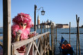 Person in costume at venice carnival Stock Image