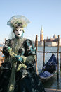Person in costume at venice carnival Royalty Free Stock Photos