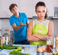 Person criticizing young spouse
