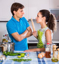 Person having quarrelling young spouse