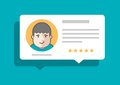 Person leaving comment and rating vector illustration Royalty Free Stock Photos