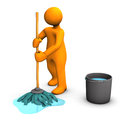 Person mopping floor Royalty Free Stock Photo