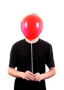 Person with red ball Imagens de Stock Royalty Free