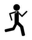 Person running icon avatar Royalty Free Stock Photo