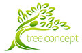 Person tree icon symbol concept of a stylised in the shape of a human figure with leaves lends itself to being used with text Stock Photo