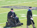 Person in wheelchair, Graduation, Northwestern Oklahoma State University