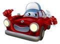 Personaggio dei cartoni animati del meccanico di automobile Immagine Stock