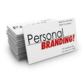 Personal branding business cards advertise services company words on to your s products or or promote you as an expert in your Stock Images