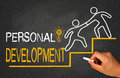 Personal development concept on chalkboard Stock Images