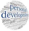 Personal development in tag cloud concept word on white Royalty Free Stock Image
