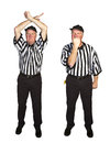 Personal foul face mask man dressed as an nfl referee signalling Stock Image