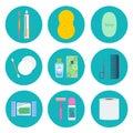 Personal hygiene vector icon set