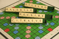 Personal qualities as a scrabble anagram Stock Images